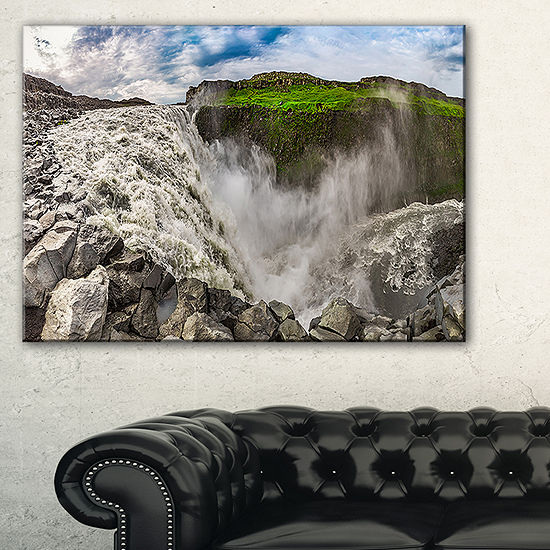 Designart Dettifoss Waterfall Iceland Panorama Canvas Art