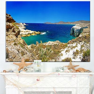 Designart Milos Island Bay Panorama Canvas Art