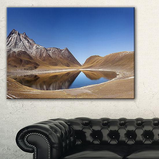 Designart Miniques Lagoon North Of Chile Canvas Art