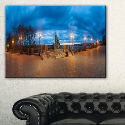 Designart Monument To Armories Panorama Canvas Art
