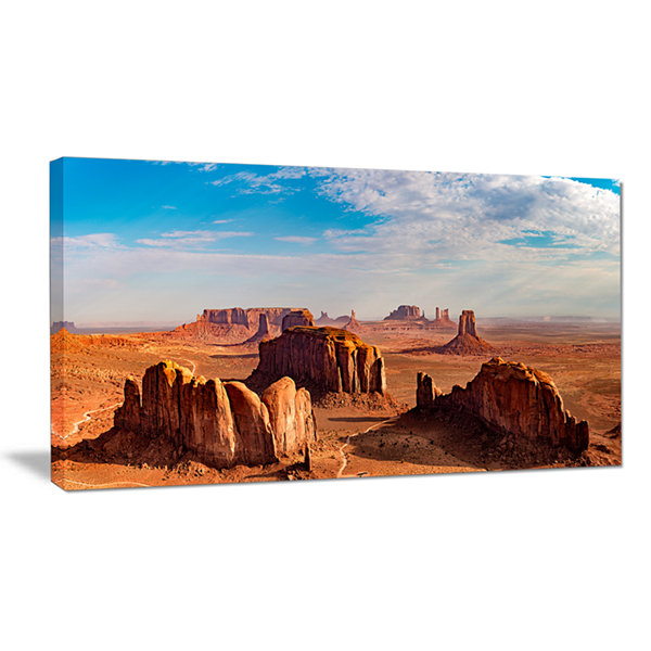 Designart Monument Valley Aerial Sky View Canvas Art