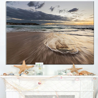 Designart Morning With Playful Surf And Pleasant Sky Canvas Art