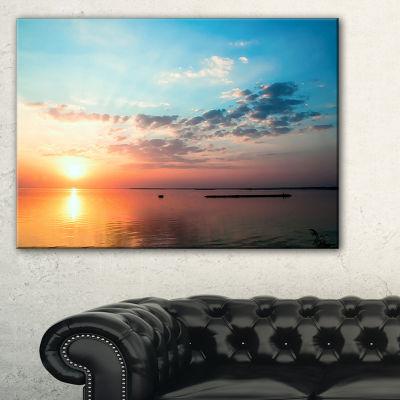 Designart Dramatic Sunset Cloudy Sky Canvas Art