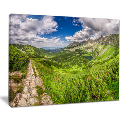 Designart Mountain Trail In Tatras Panorama Canvas Art