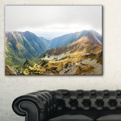 Designart Mountains From Ostry Peak Tatras Canvas Art