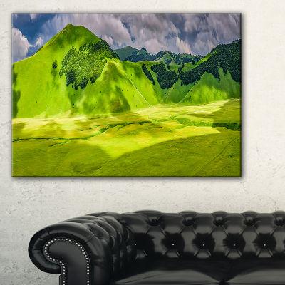 Designart Mountains In Castelluccio Panorama Canvas Art