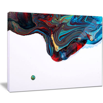 Designart Multi Color Abstract Acrylic Paint Mix Canvas Art