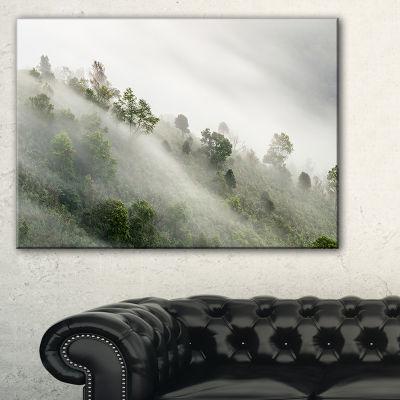 Designart Mystical Foggy Mountain Slope Canvas Art