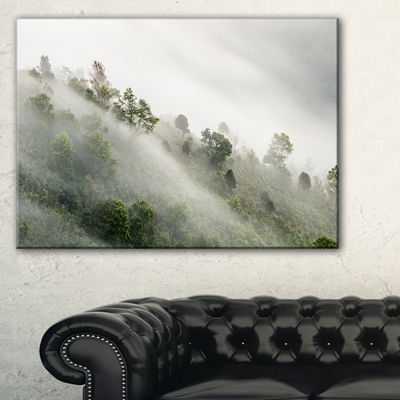 Designart Mystical Foggy Mountain Slope Canvas Art