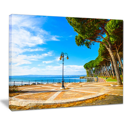 Designart Esplanade And Pine Trees In Bolsena Canvas Art