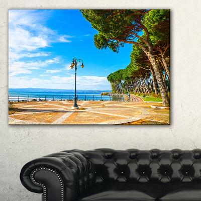 Designart Esplanade And Pine Trees In Bolsena Canvas Art
