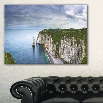 Designart Etretat Aval Cliff And Rocks Canvas Art