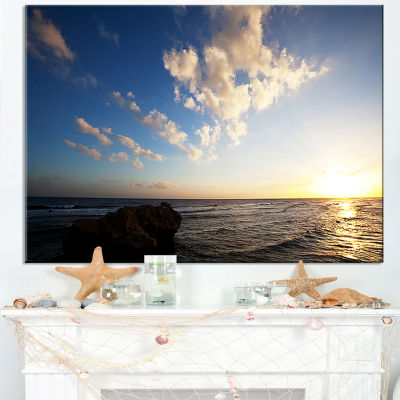 Designart Evening Sea After Heavy Storm Canvas Art