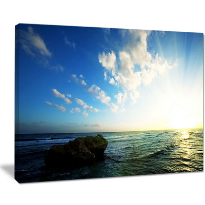 Designart Evening Sea With Calm Waters Canvas Art