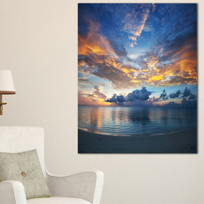 Designart Exotic Colorful Maldives Seashore Canvas Art