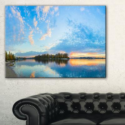 Designart Exotic Sunrise On River Autumn Canvas Art