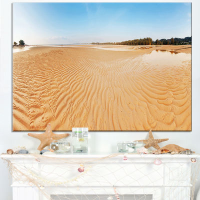 Designart Exotic Tropical Beach Panorama Canvas Art