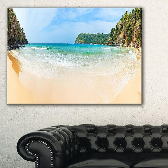 Designart Exotic Vacation Seashore Panorama Canvas Art