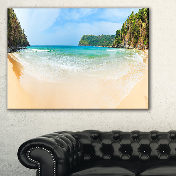 Designart Exotic Vacation Seashore Panorama Canvas Art
