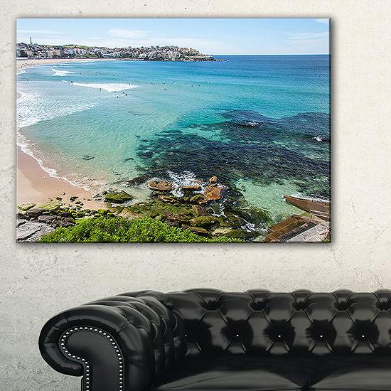 Designart Expansive Sydney Bondi Beach Canvas Art