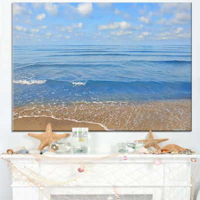 Designart Expansive Tropical Blue Beach Canvas Art