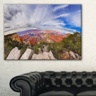 Designart Eye Looking At The Grand Canyon Canvas Art