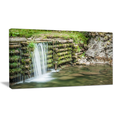 Designart Fabulous Man Made Waterfall Canvas Art