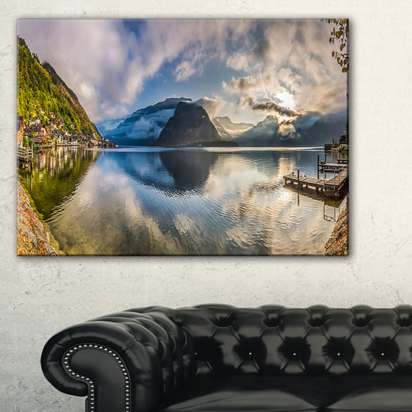 Designart Fabulous Mountain Lake In Alps Canvas Art