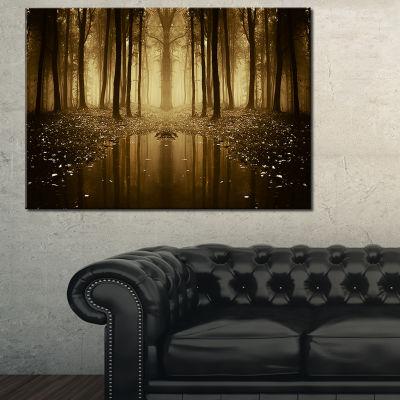 Designart Fall Trees Reflecting In Lake 3-pc. Canvas Art