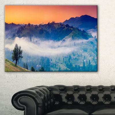 Designart Fantastic Blue Mountains Panorama Canvas Art