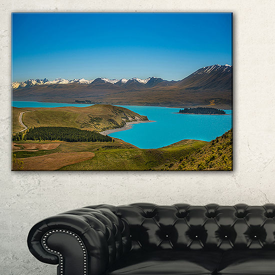 Designart Fantastic Calm Landscape Of New Zealand Canvas Art