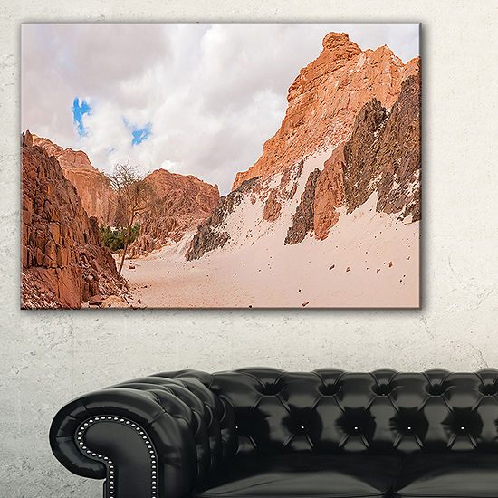 Designart Fantastic Panorama Of White Canyon Canvas Art