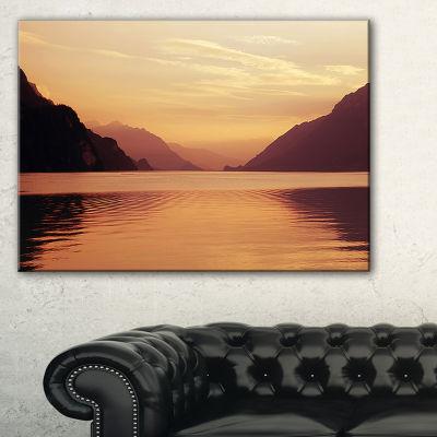 Designart Fantastic Swiss Lake At Sunset In Brienz Canvas Art