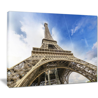 Designart Fantastic View Of Paris Paris Eiffel Towerfrom Ground Canvas Art