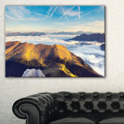 Designart Fantastic View Of Val Gardena Valley Canvas Art