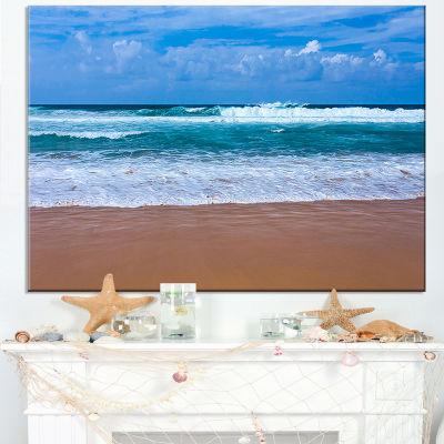 Designart Fascinating Atlantic Beach In Portugal Canvas Art
