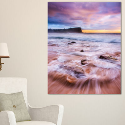 Designart Fascinating Seashore With White Waters Canvas Art
