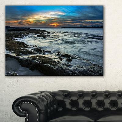 Designart Fascinating Sunset At Australia Coastline Canvas Art