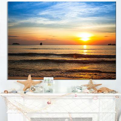 Designart Fascinating Sunset Over Clam Beach Canvas Art