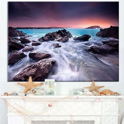 Designart Fascinating View Of Rocky Coast Canvas Art