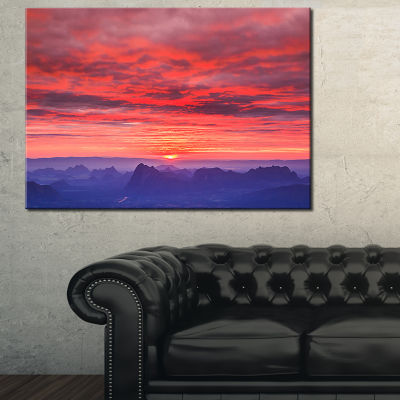 Designart First Light Morning Sunrise Canvas Art