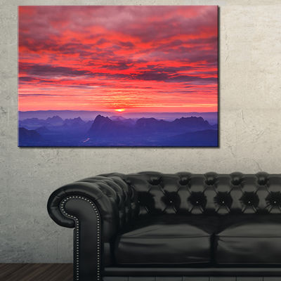 Designart First Light Morning Sunrise 3-pc. Canvas Art