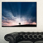 Designart Flock Of Birds And Lonely Tree Canvas Art