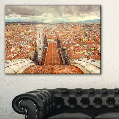 Designart Florence View From Duomo Cathedral Canvas Art