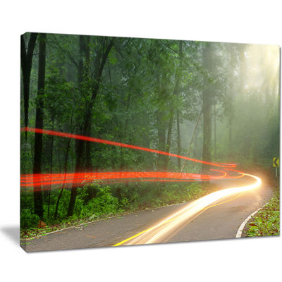 Designart Foggy Morning With Sun Rays Canvas Art