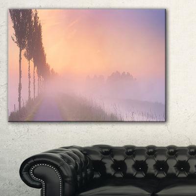 Designart Foggy Sunrise In The Netherlands Canvas Art