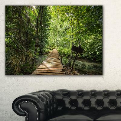 Designart Forest Way To Emerald Pool Canvas Art