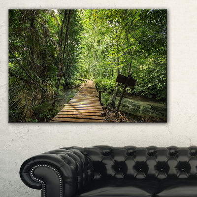 Designart Forest Way To Emerald Pool 3-pc. Canvas Art