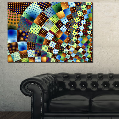 Designart Fractal Geometric Ornament Design 3-pc. Canvas Art