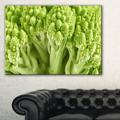 Designart Fresh Green Romanesco Florets Canvas Art